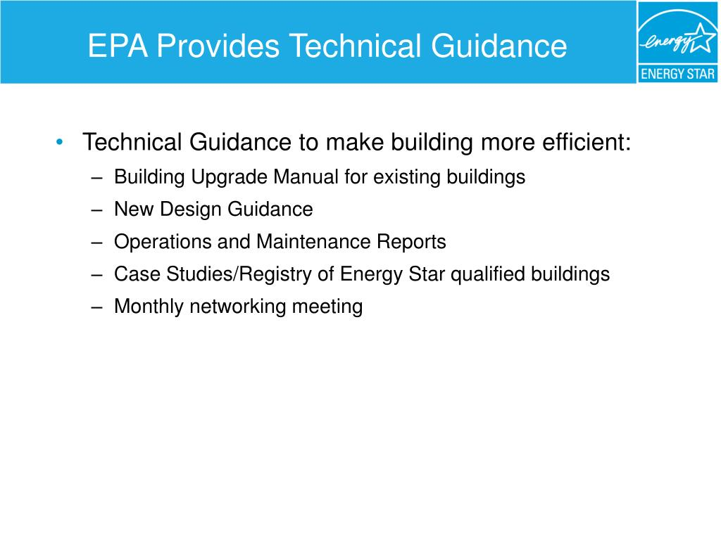 EPA Provides Technical Guidance