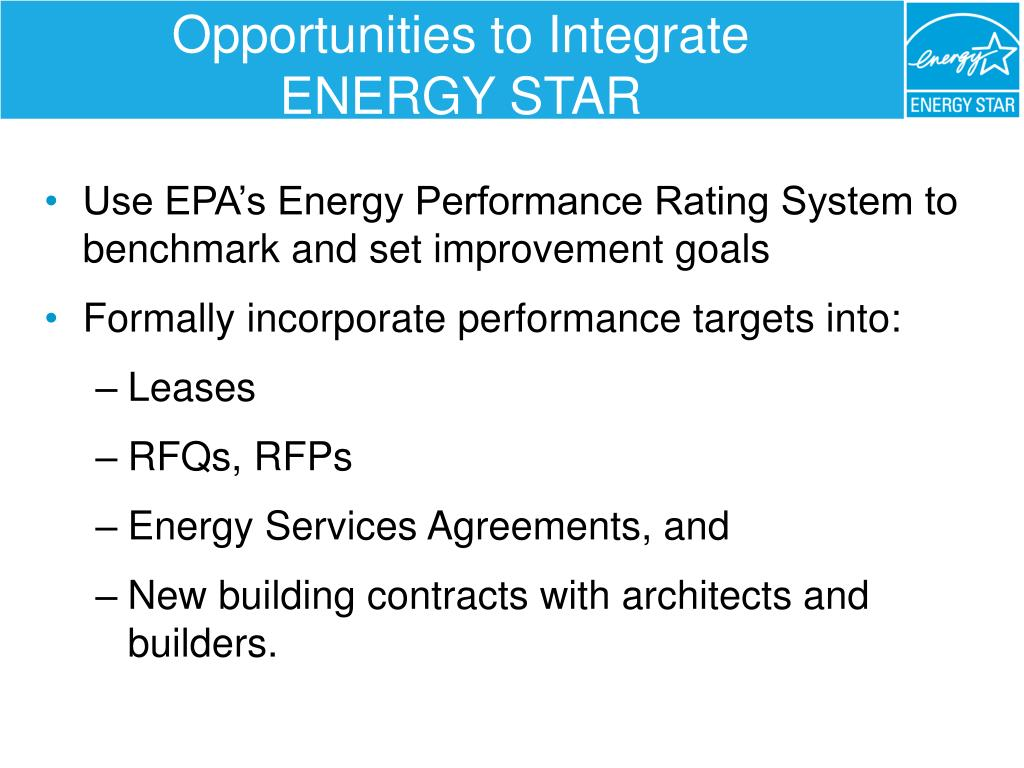 Opportunities to Integrate