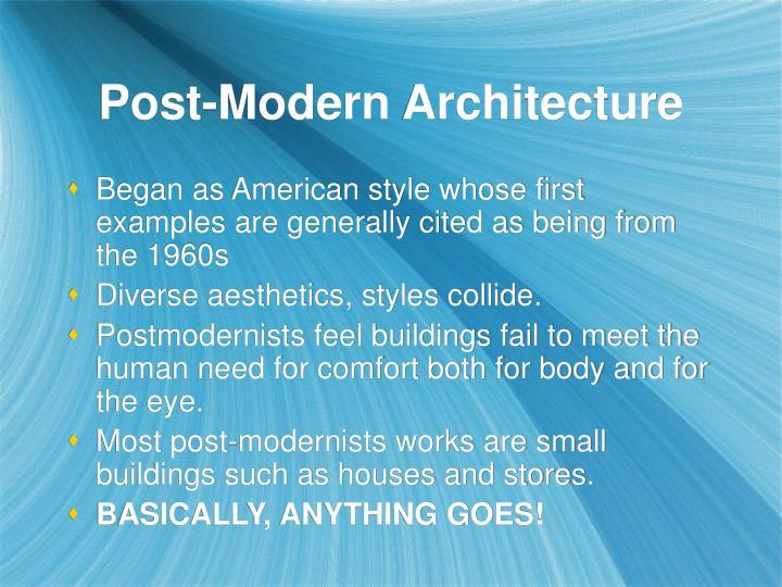 Post-Modern Architecture