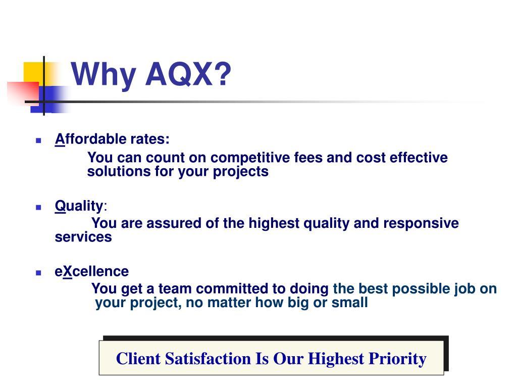 Why AQX?