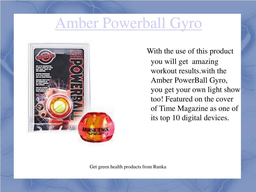 Amber Powerball Gyro