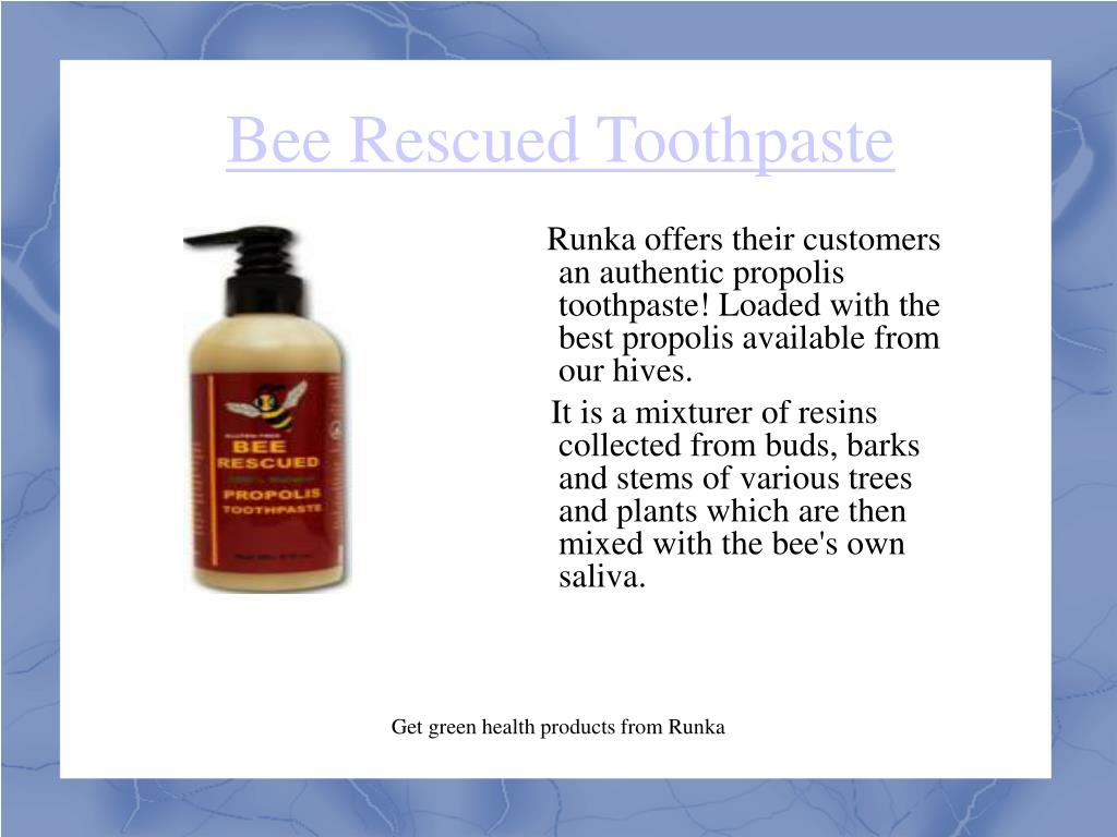 Bee Rescued Toothpaste