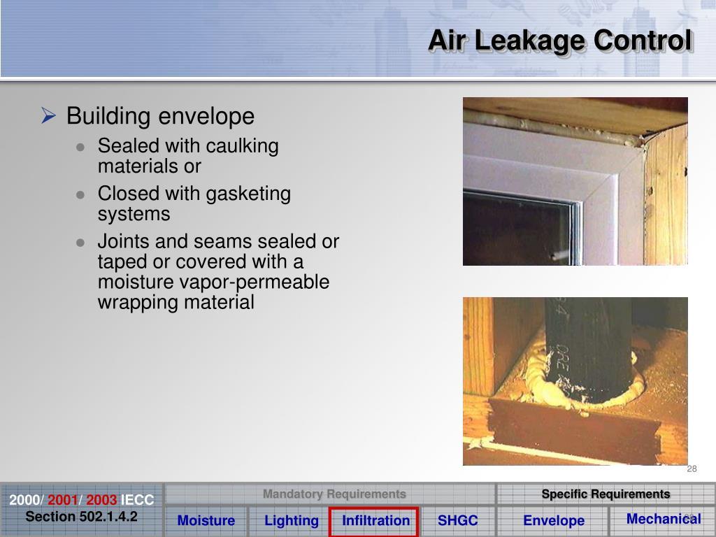 Air Leakage Control