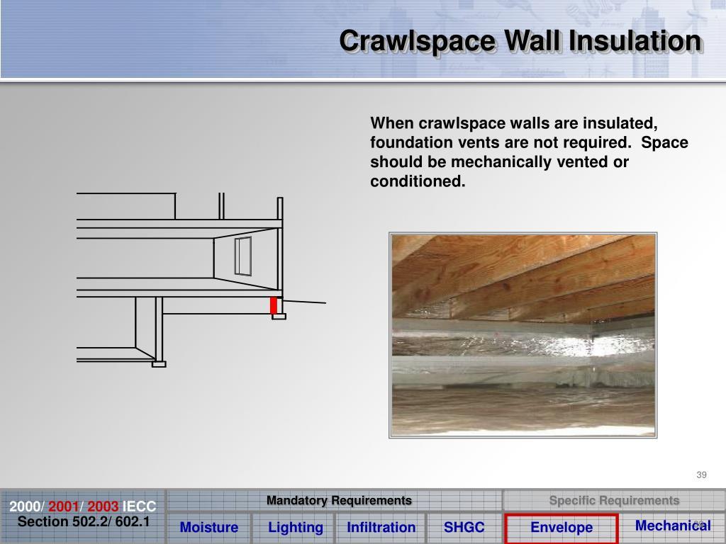 Crawlspace Wall Insulation