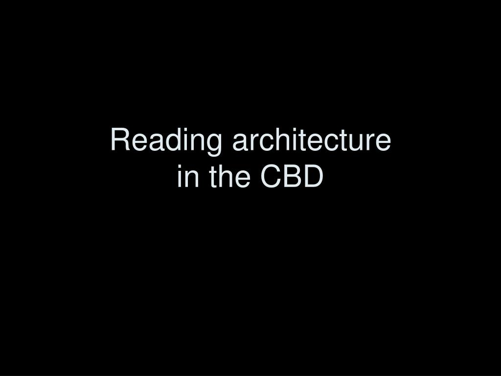 Reading architecture