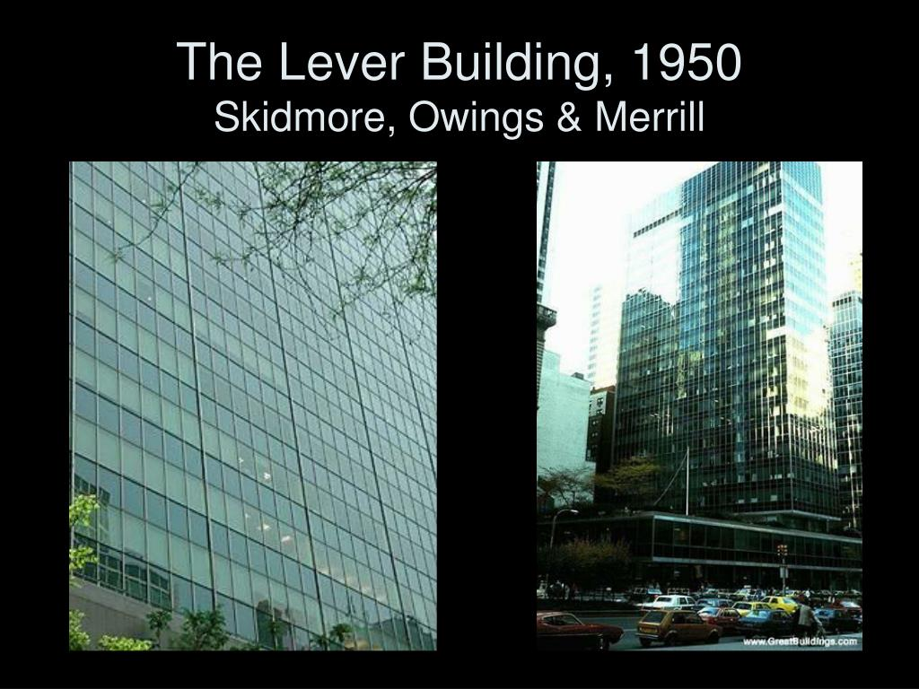 The Lever Building, 1950