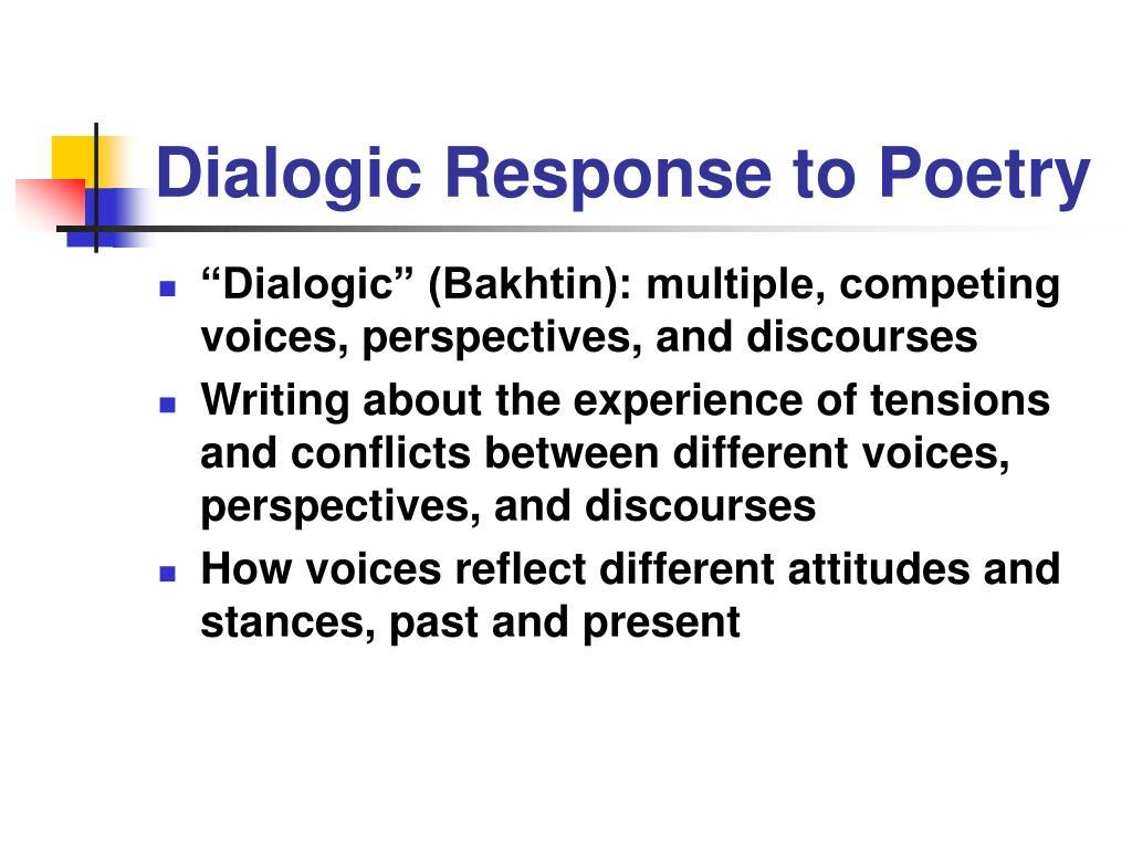 Dialogic Response to Poetry