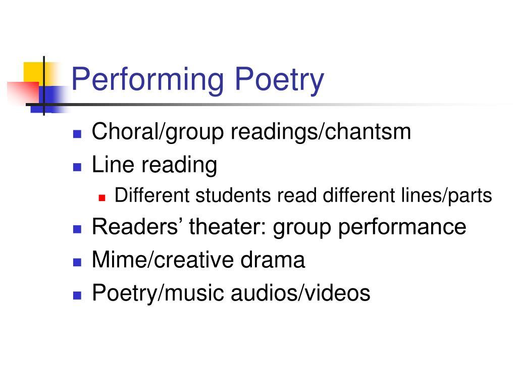 Performing Poetry
