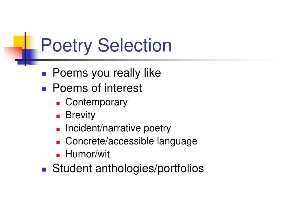 Poetry Selection
