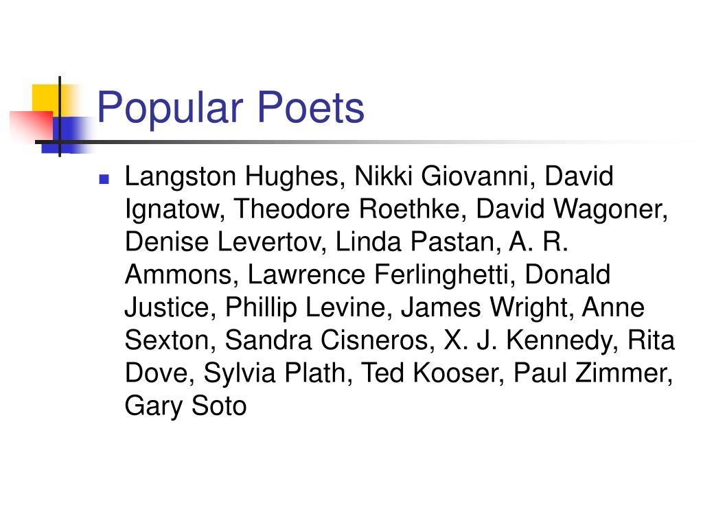 Popular Poets