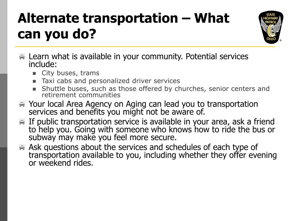 Alternate transportation – What can you do?