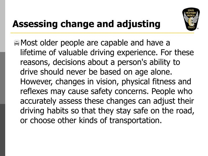 Assessing change and adjusting l.jpg