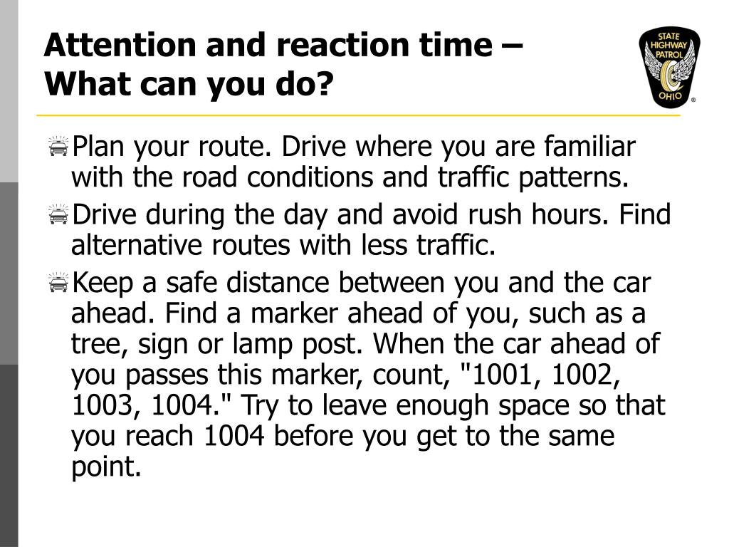 Attention and reaction time – What can you do?