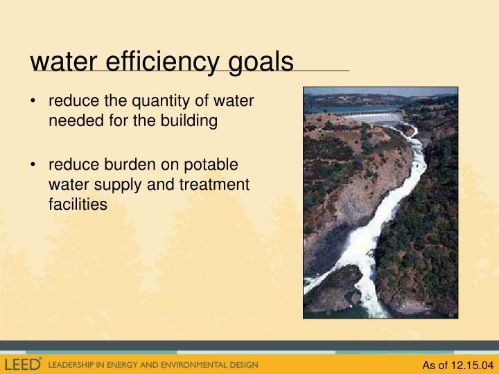 water efficiency goals