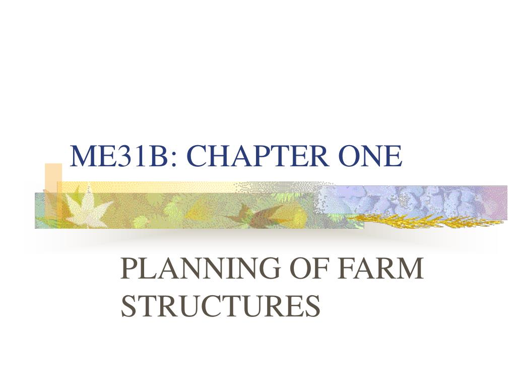 ME31B: CHAPTER ONE