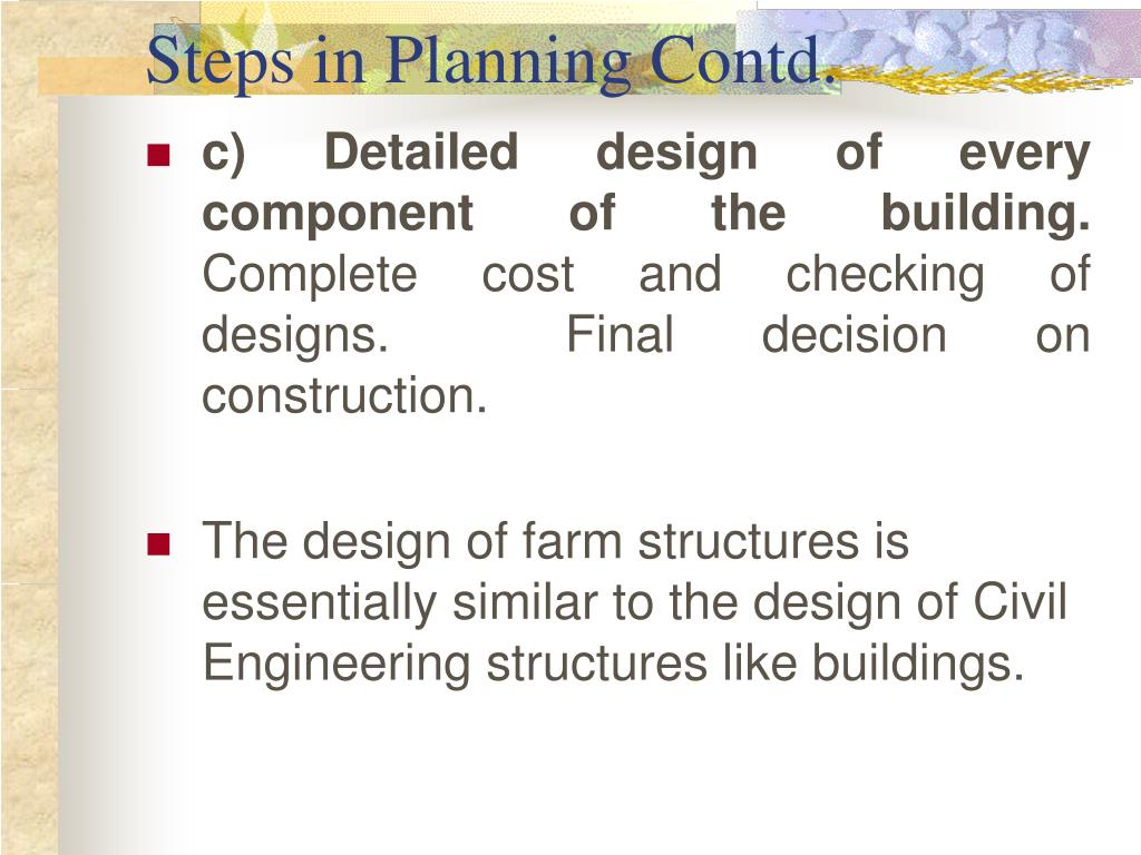 Steps in Planning Contd.