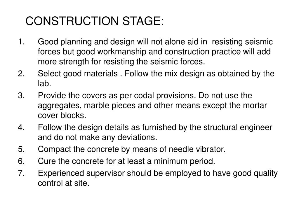 CONSTRUCTION STAGE: