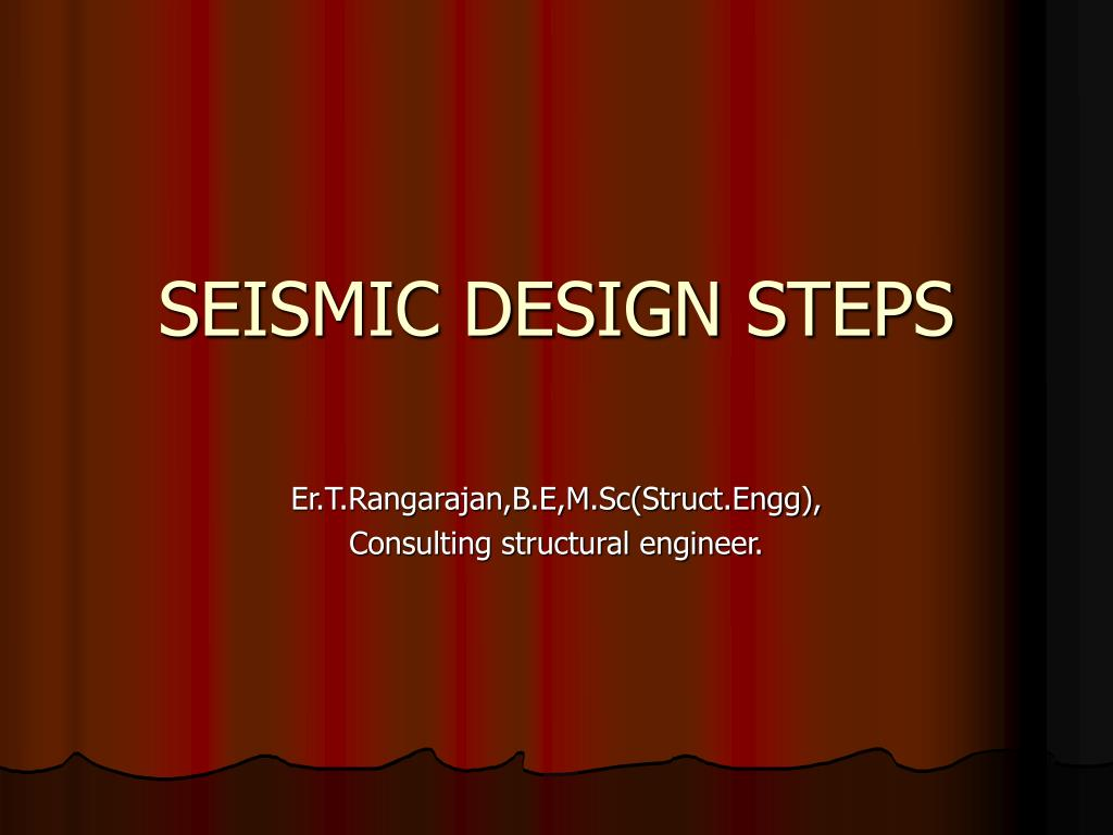 SEISMIC DESIGN STEPS