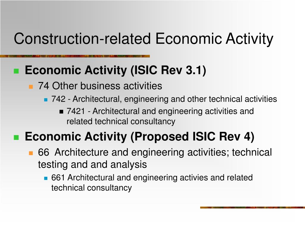 Construction-related Economic Activity