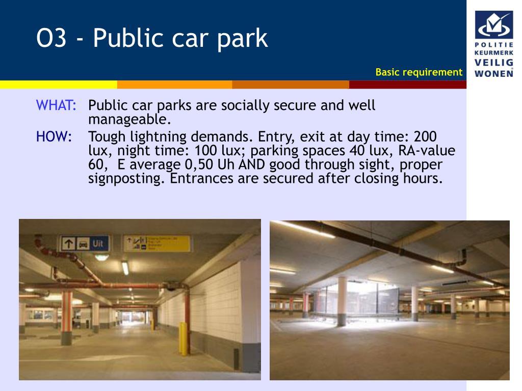 O3 - Public car park