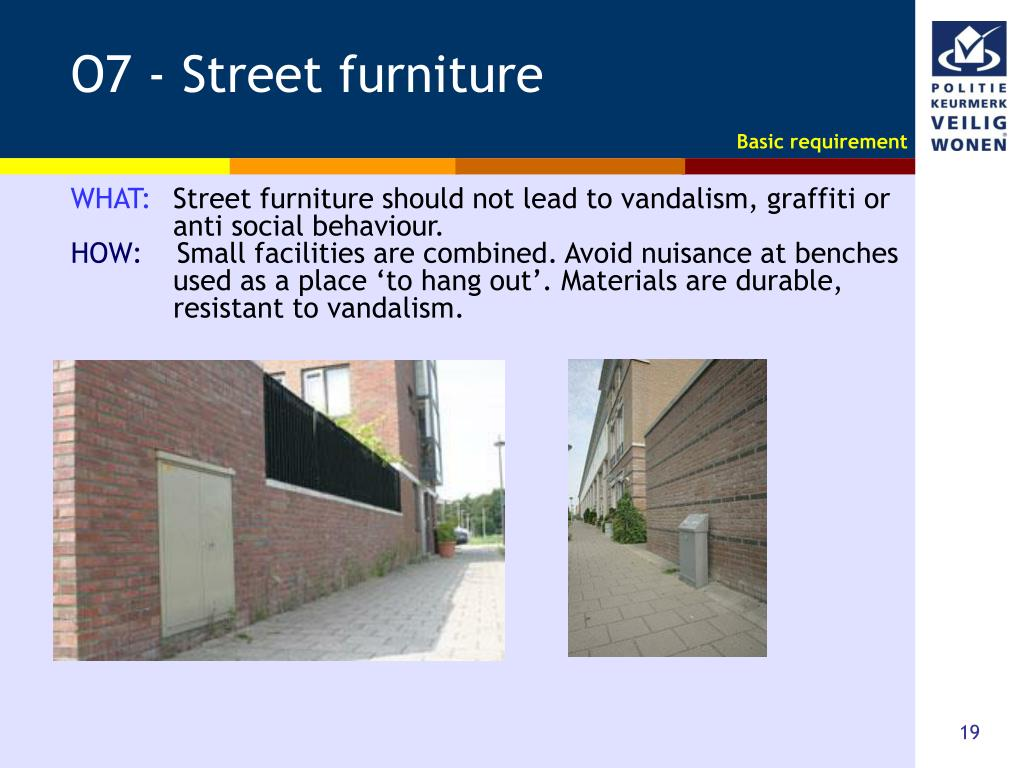 O7 - Street furniture