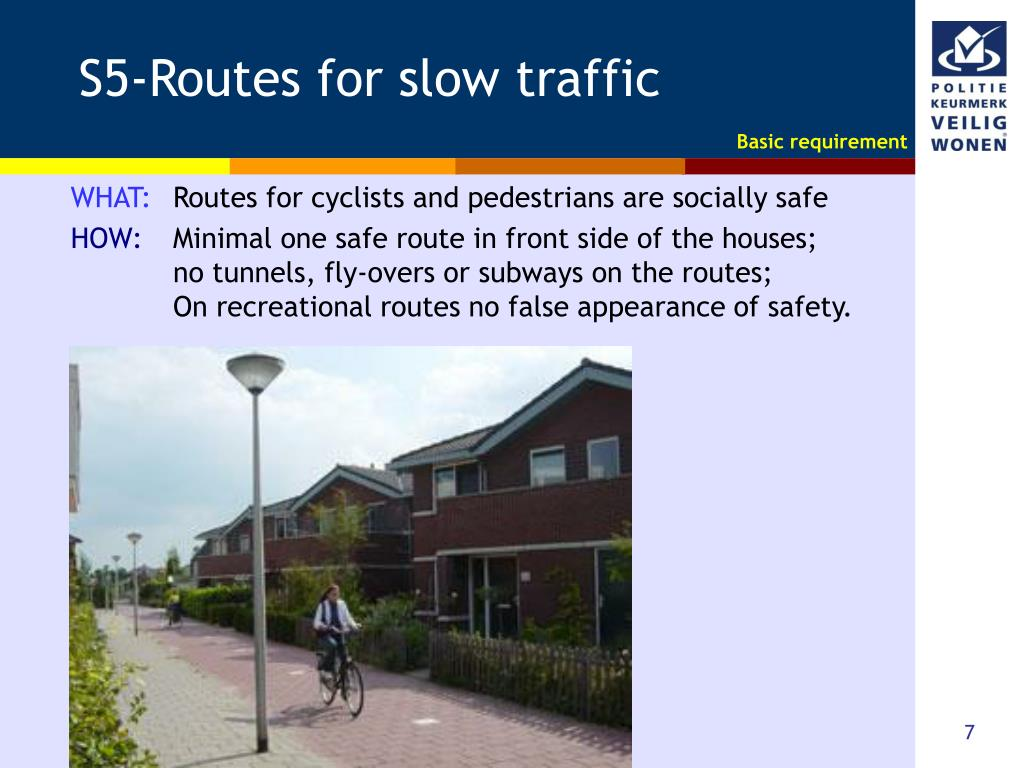 S5-Routes for slow traffic