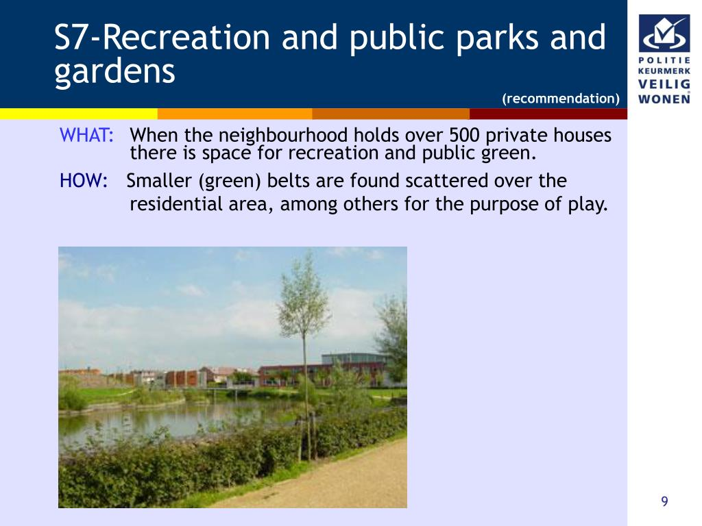 S7-Recreation and public parks and gardens