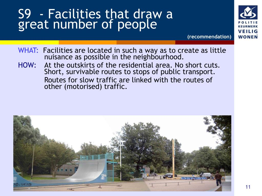 S9  - Facilities that draw a