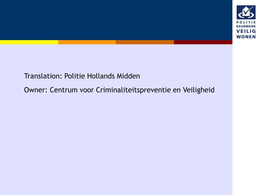 Translation: Politie Hollands Midden