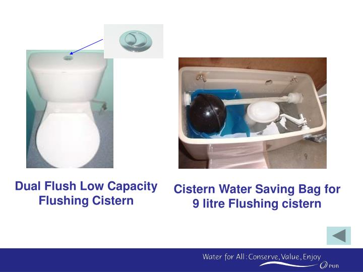 Cistern Water Saving Bag for 9 litre Flushing cistern