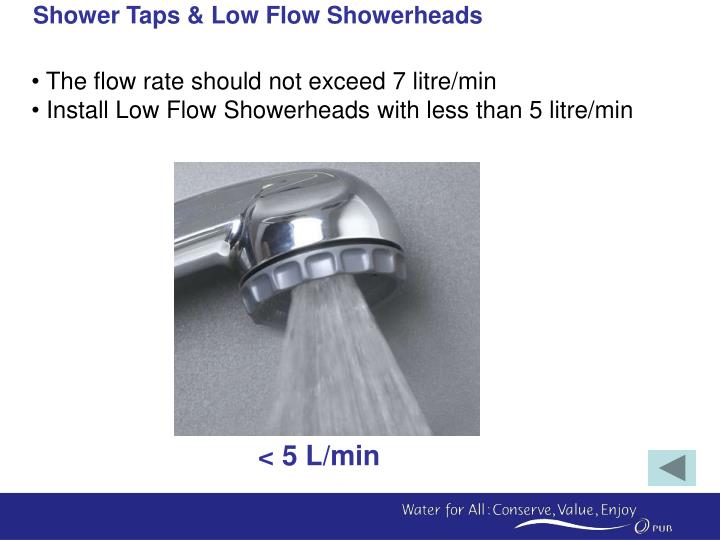 Shower Taps & Low Flow Showerheads