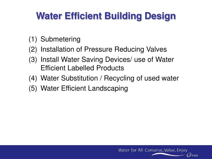 Water Efficient Building Design