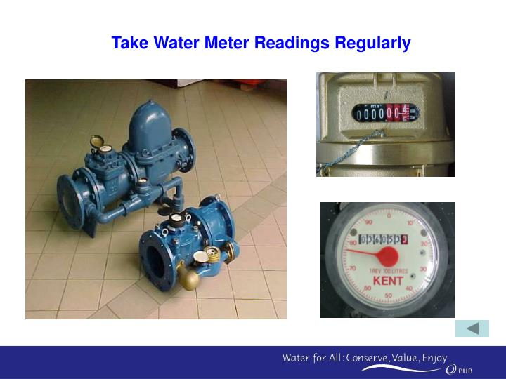 Take Water Meter Readings Regularly