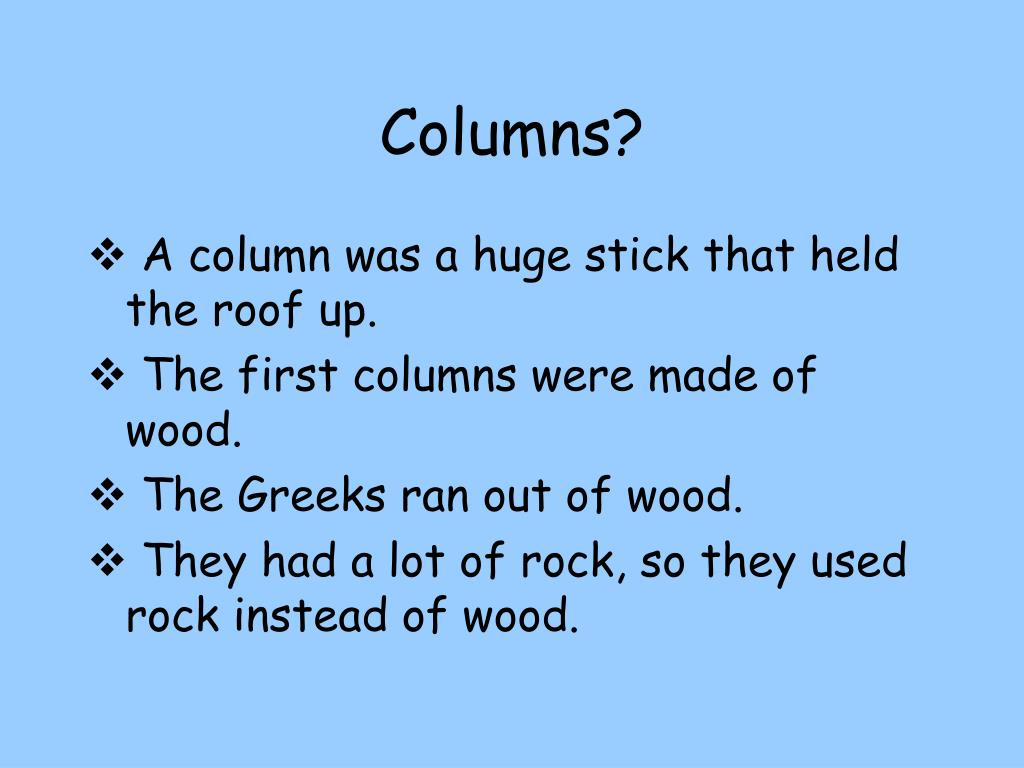 Columns?