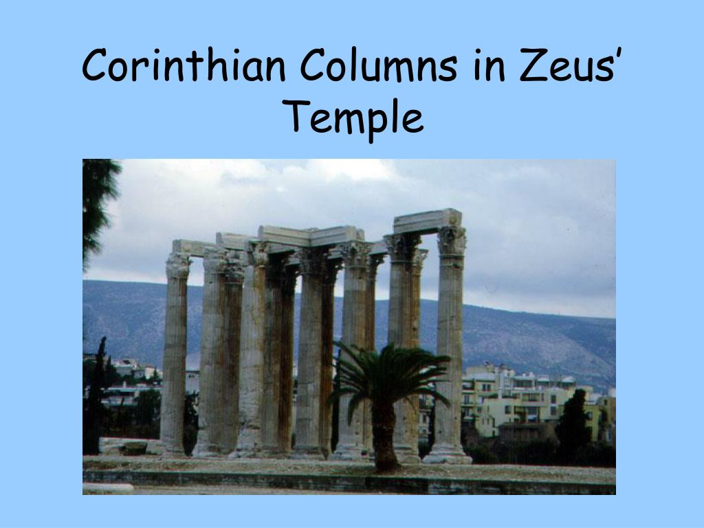 Corinthian Columns in Zeus' Temple
