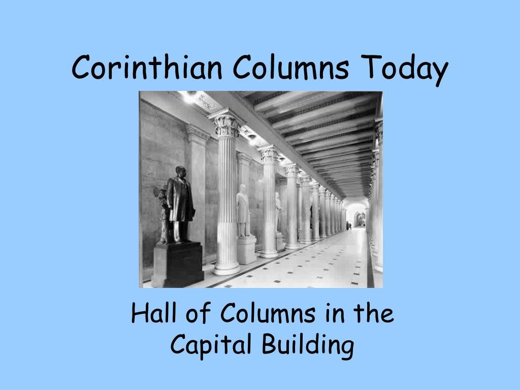 Corinthian Columns Today