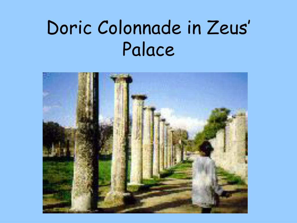 Doric Colonnade in Zeus' Palace