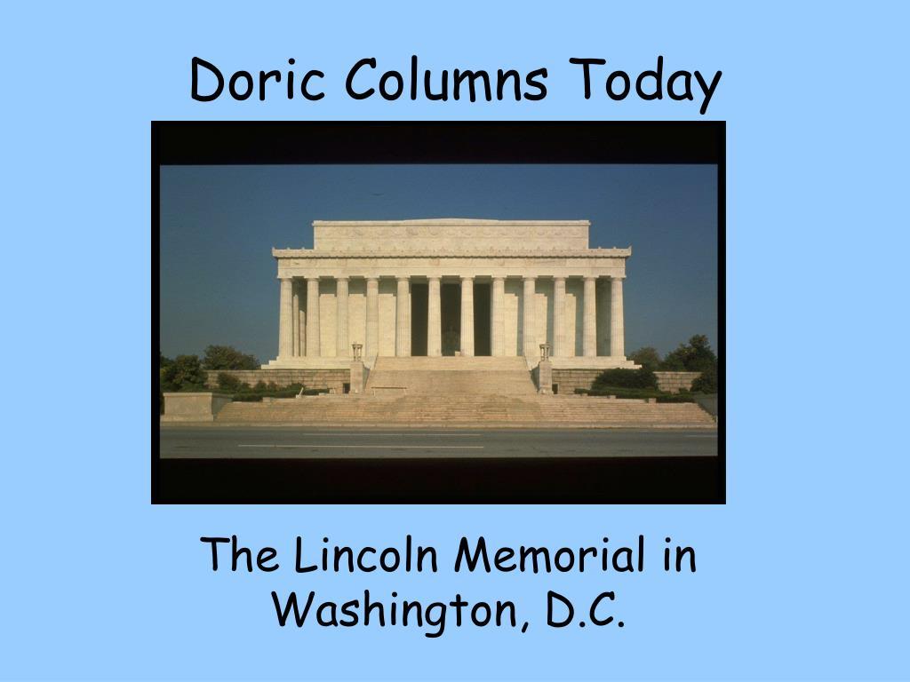 Doric Columns Today