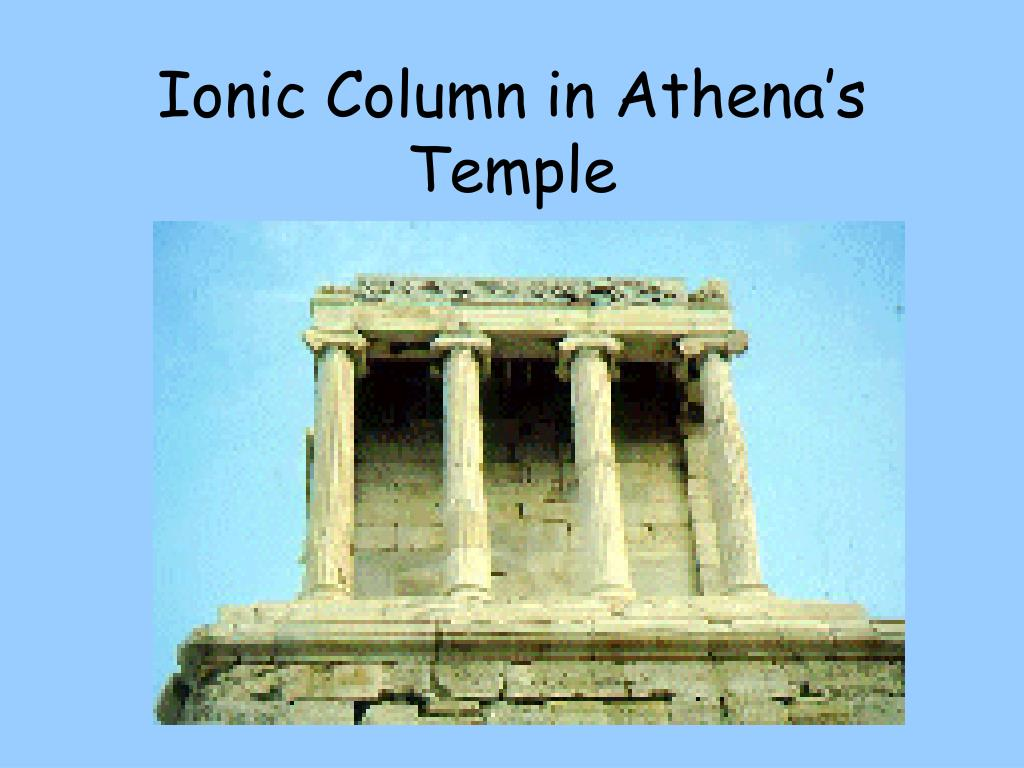 Ionic Column in Athena's Temple