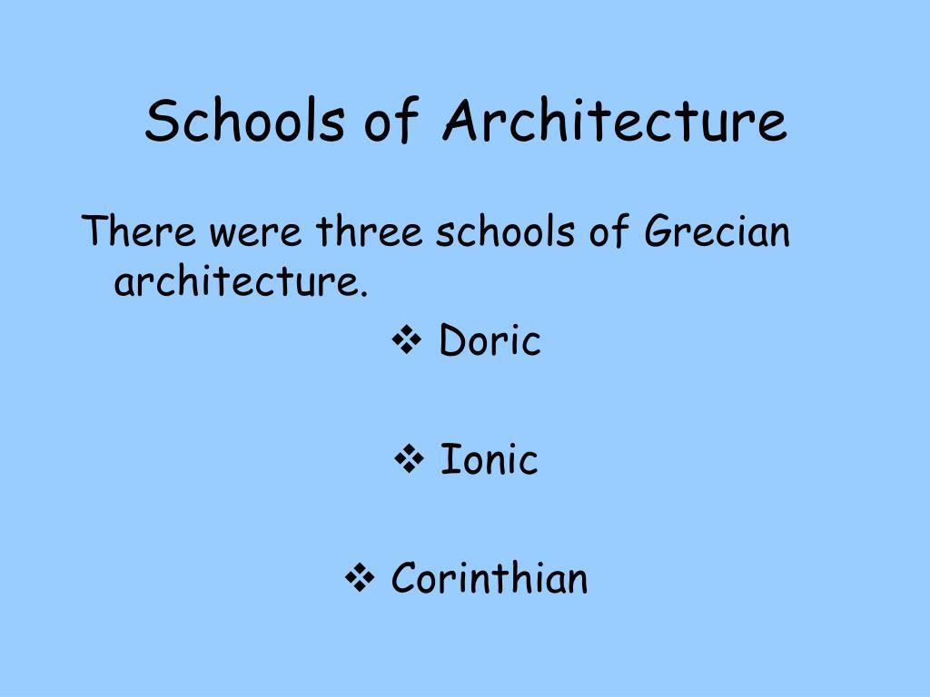 Schools of Architecture