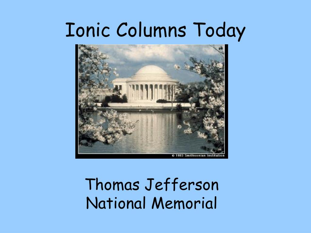 Ionic Columns Today