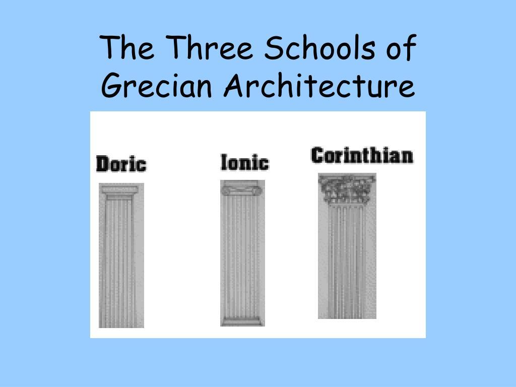 The Three Schools of Grecian Architecture