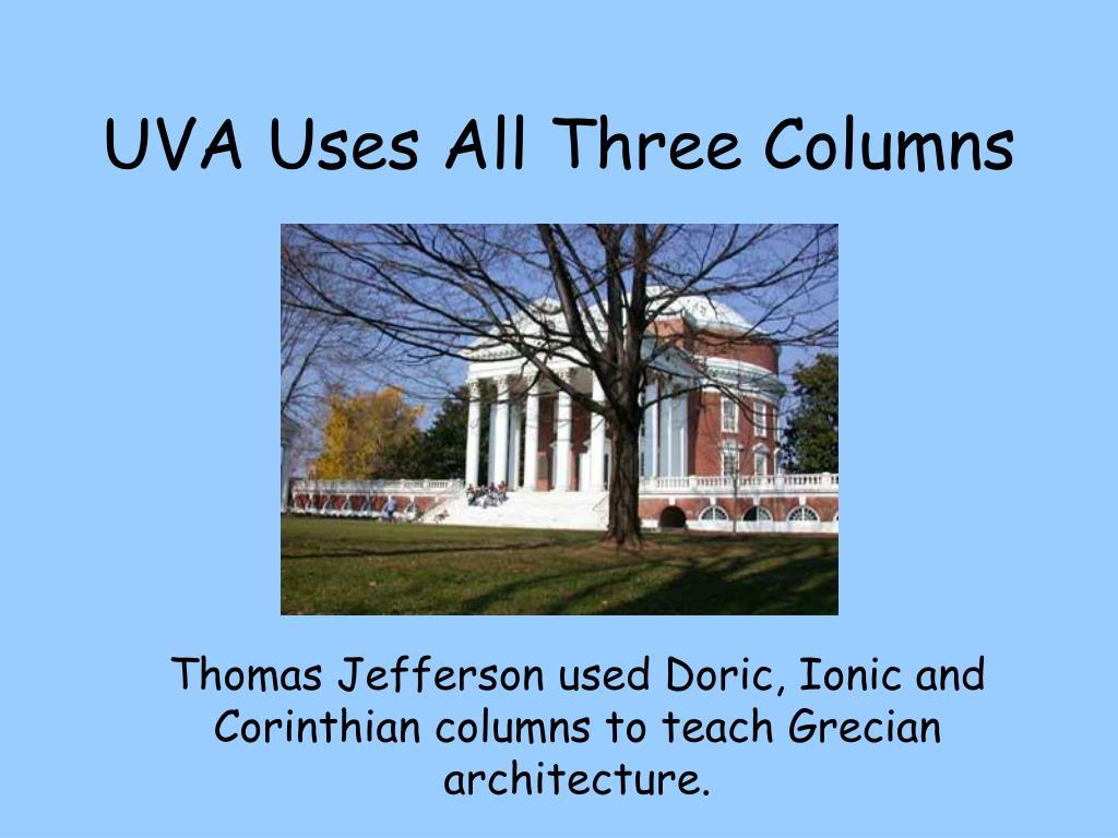 UVA Uses All Three Columns