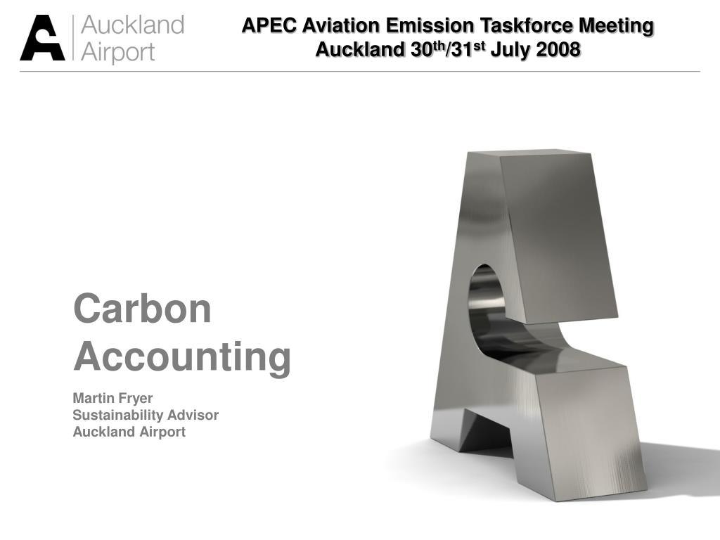 APEC Aviation Emission Taskforce Meeting