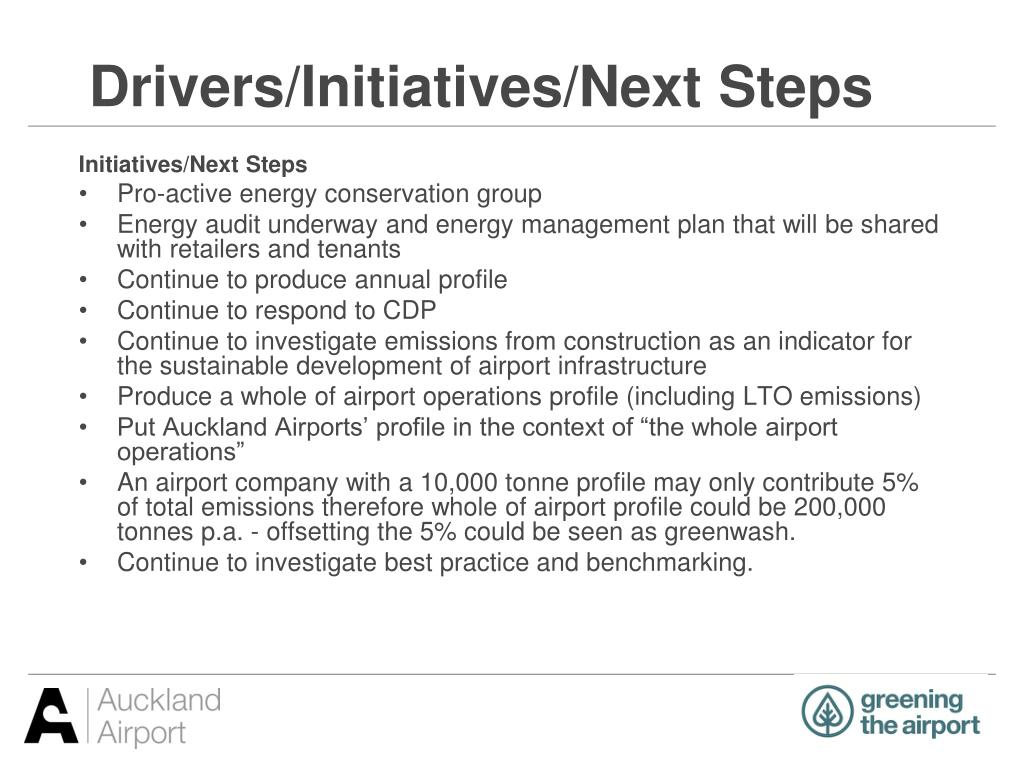 Drivers/Initiatives/Next Steps