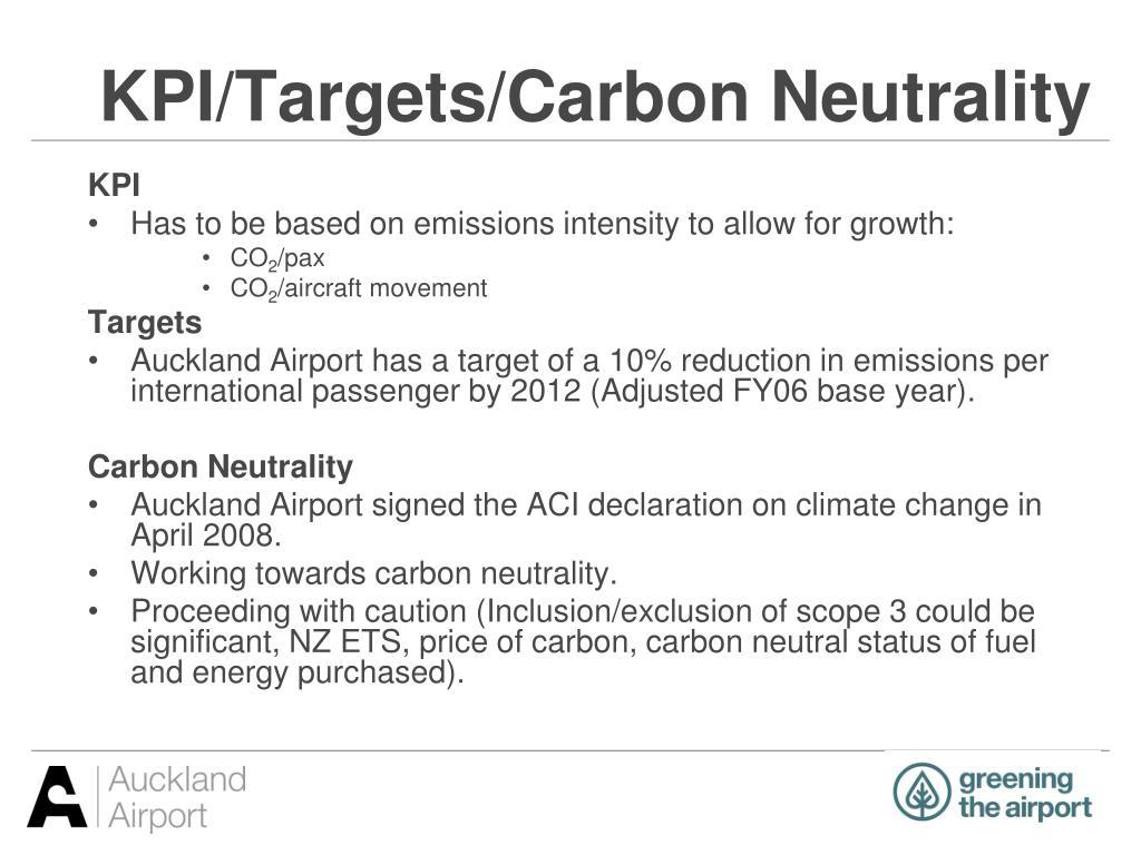 KPI/Targets/Carbon Neutrality