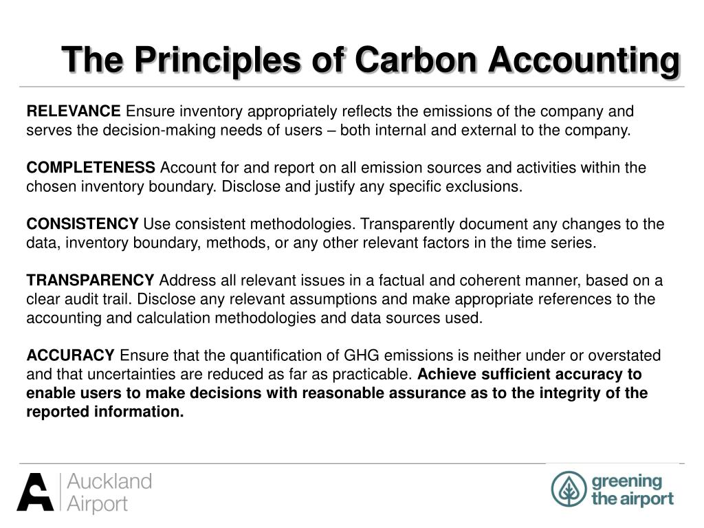 The Principles of Carbon Accounting