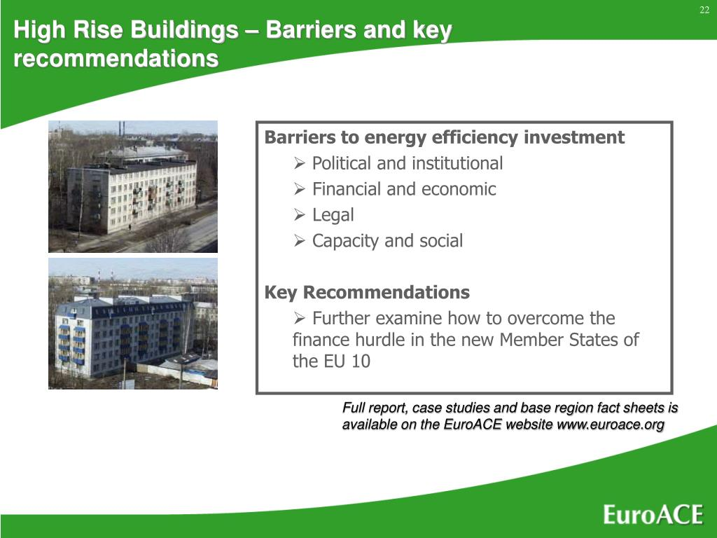 High Rise Buildings – Barriers and key recommendations