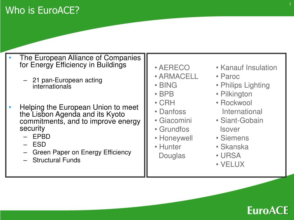 The European Alliance of Companies for Energy Efficiency in Buildings