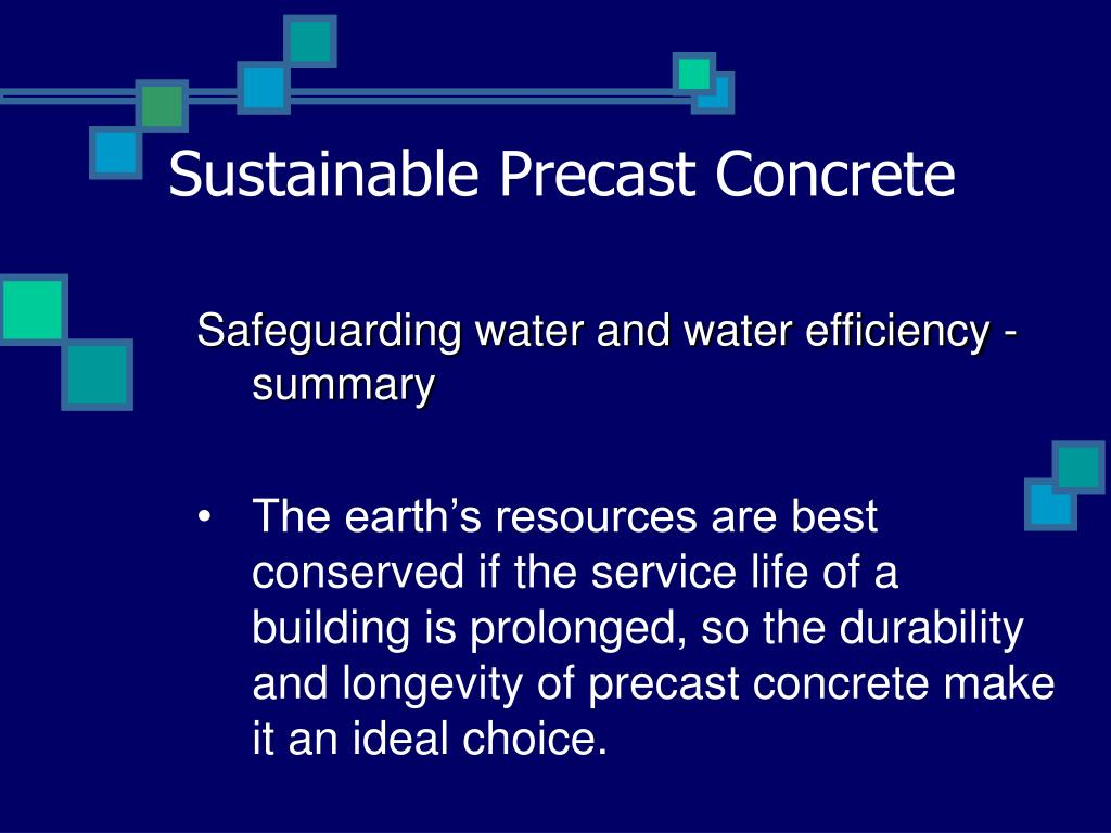 Sustainable Precast Concrete
